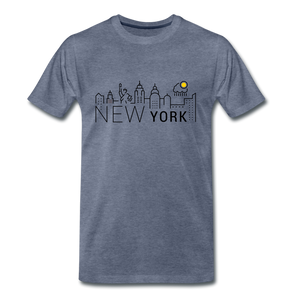 NEW YORK SHINE - heather blue