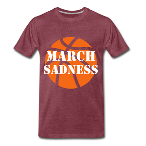 March Sadness - heather burgundy