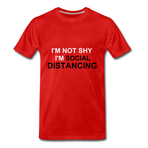 Not Shy Social Distance - red