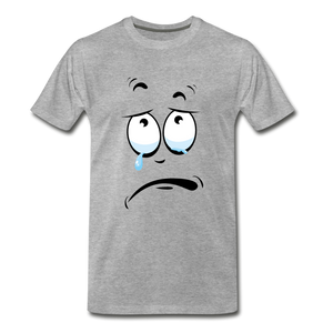 crying tee - heather gray