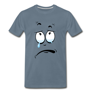 crying tee - steel blue