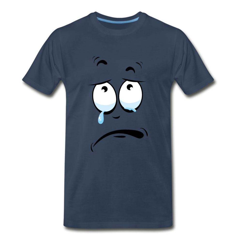 crying tee - navy