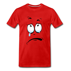 crying tee - red