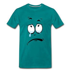 crying tee - teal