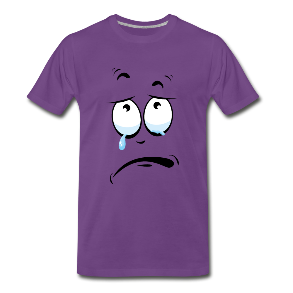 crying tee - purple