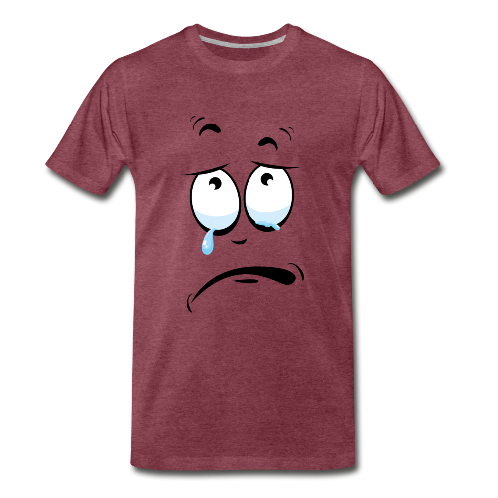 crying tee - heather burgundy