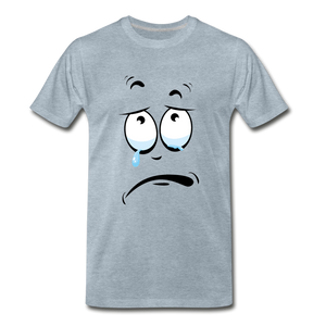 crying tee - heather ice blue