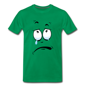 crying tee - kelly green