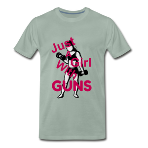 Just A Girl With Guns - steel green
