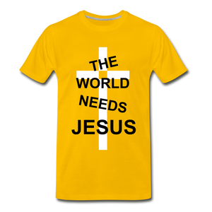 The World Needs Jesus - sun yellow