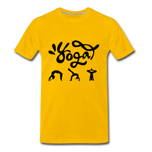 Yoga Tee. - sun yellow