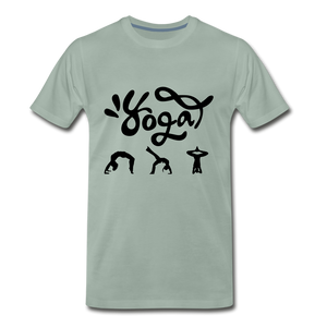 Yoga Tee. - steel green