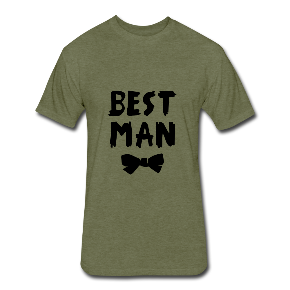 Best Man Tee - heather military green