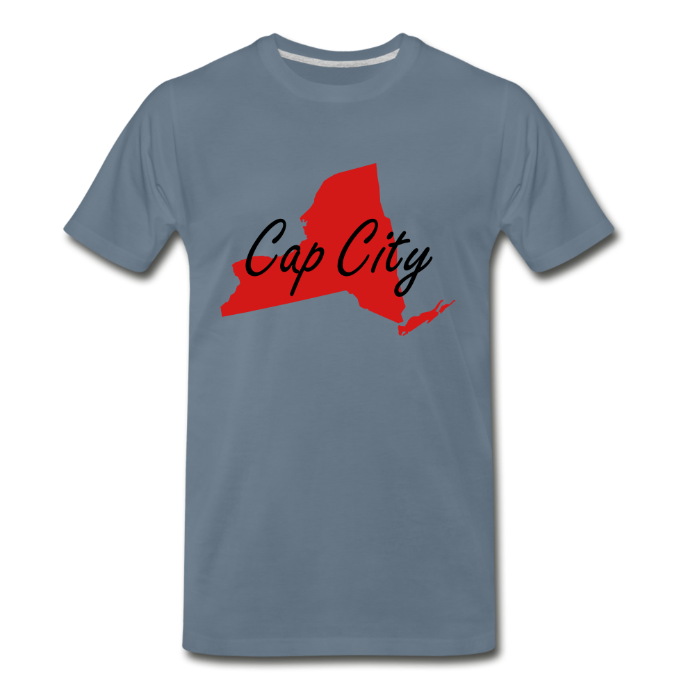 Cap City Tee. - steel blue