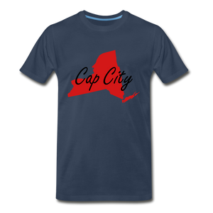 Cap City Tee. - navy