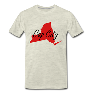 Cap City Tee. - heather oatmeal