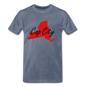 Cap City Tee. - heather blue