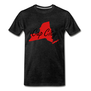 Cap City Tee. - charcoal gray