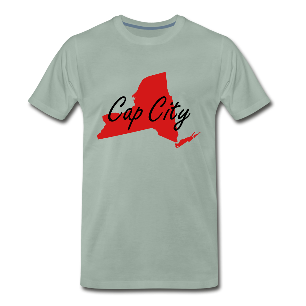 Cap City Tee. - steel green