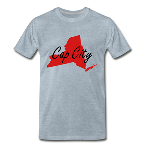 Cap City Tee. - heather ice blue