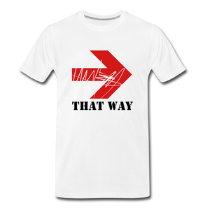 That Way Tee. - white