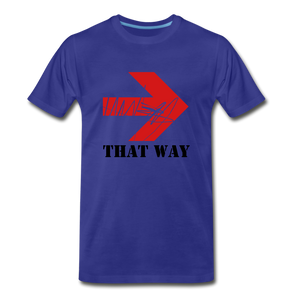That Way Tee. - royal blue