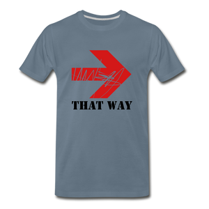 That Way Tee. - steel blue