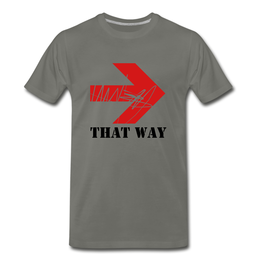 That Way Tee. - asphalt gray