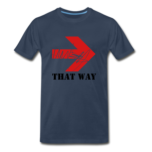 That Way Tee. - navy