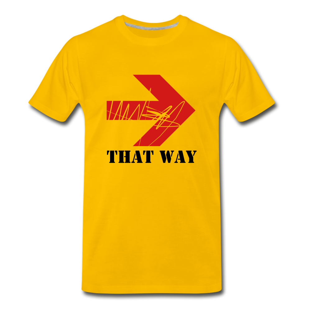 That Way Tee. - sun yellow