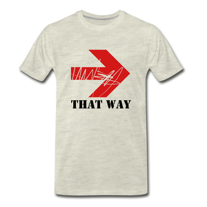 That Way Tee. - heather oatmeal