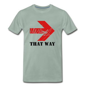 That Way Tee. - steel green