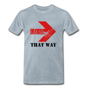 That Way Tee. - heather ice blue