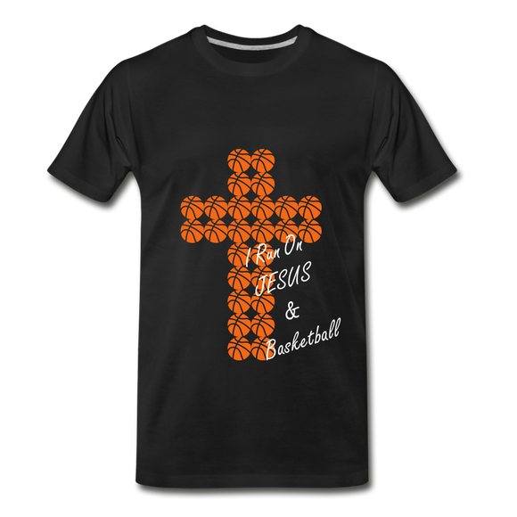 I Run On JESUS & Basketball - black