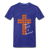 I Run On JESUS & Basketball - royal blue