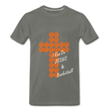 I Run On JESUS & Basketball - asphalt gray