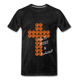 I Run On JESUS & Basketball - charcoal gray