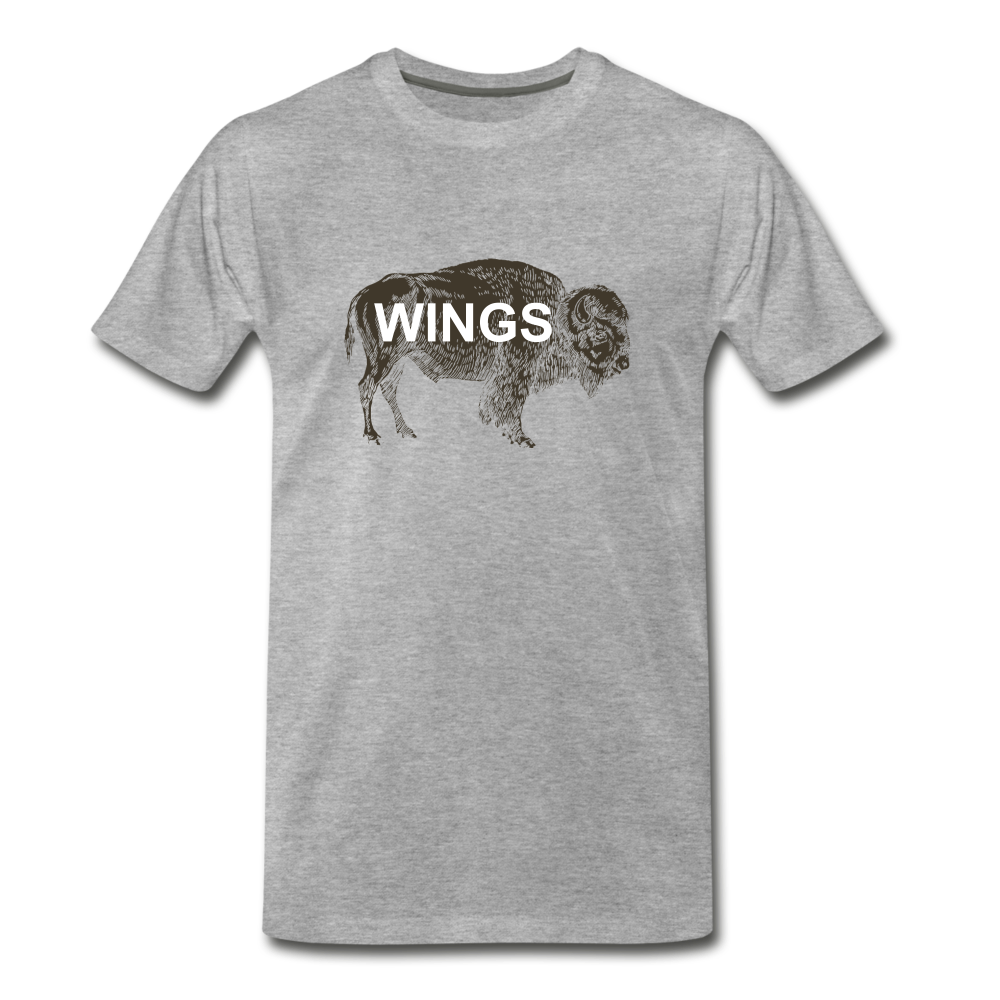 Buffalo Wings - heather gray