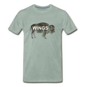 Buffalo Wings - steel green