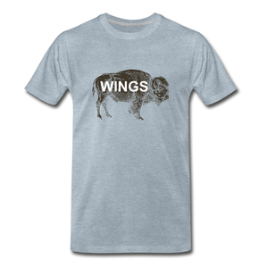 Buffalo Wings - heather ice blue