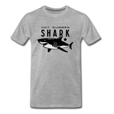 Hot Summer Shark - heather gray