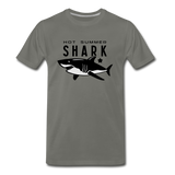 Hot Summer Shark - asphalt gray