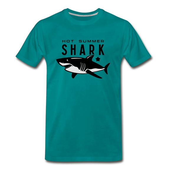 Hot Summer Shark - teal