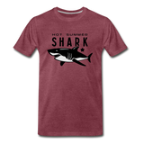 Hot Summer Shark - heather burgundy