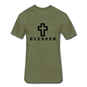 Blessed.. - heather military green