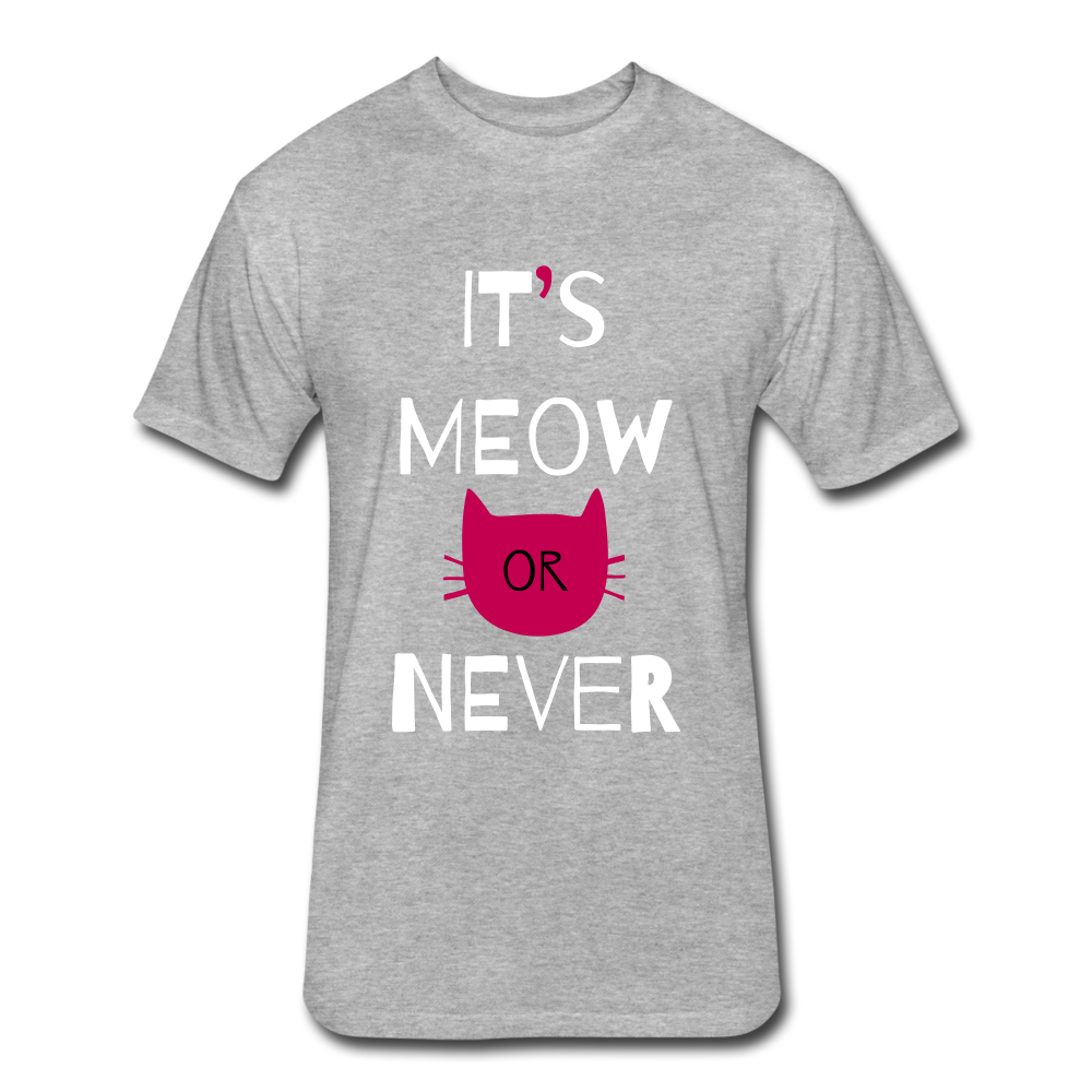 It's Meow Or Never - heather gray