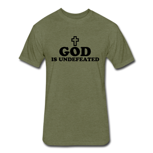 God Is Undefeated - heather military green