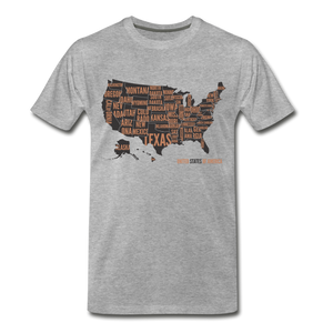 United States Tee. - heather gray
