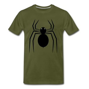 Spider Tee. - olive green