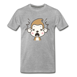 Shocked Monkey - heather gray